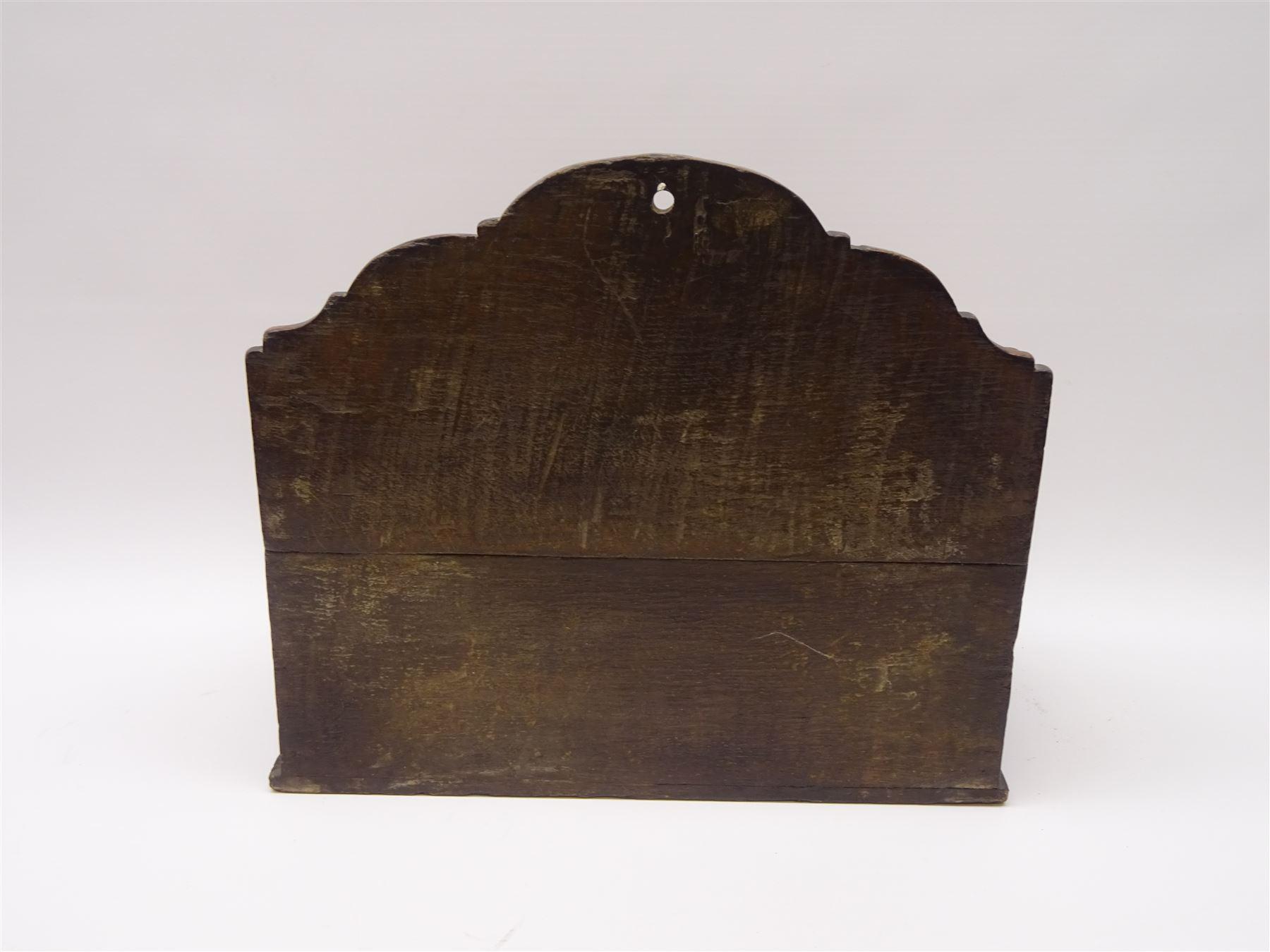 George III boarded oak spoon rack - Image 3 of 4