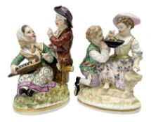 Two late 18th/early 19th century Berlin porcelain figure groups