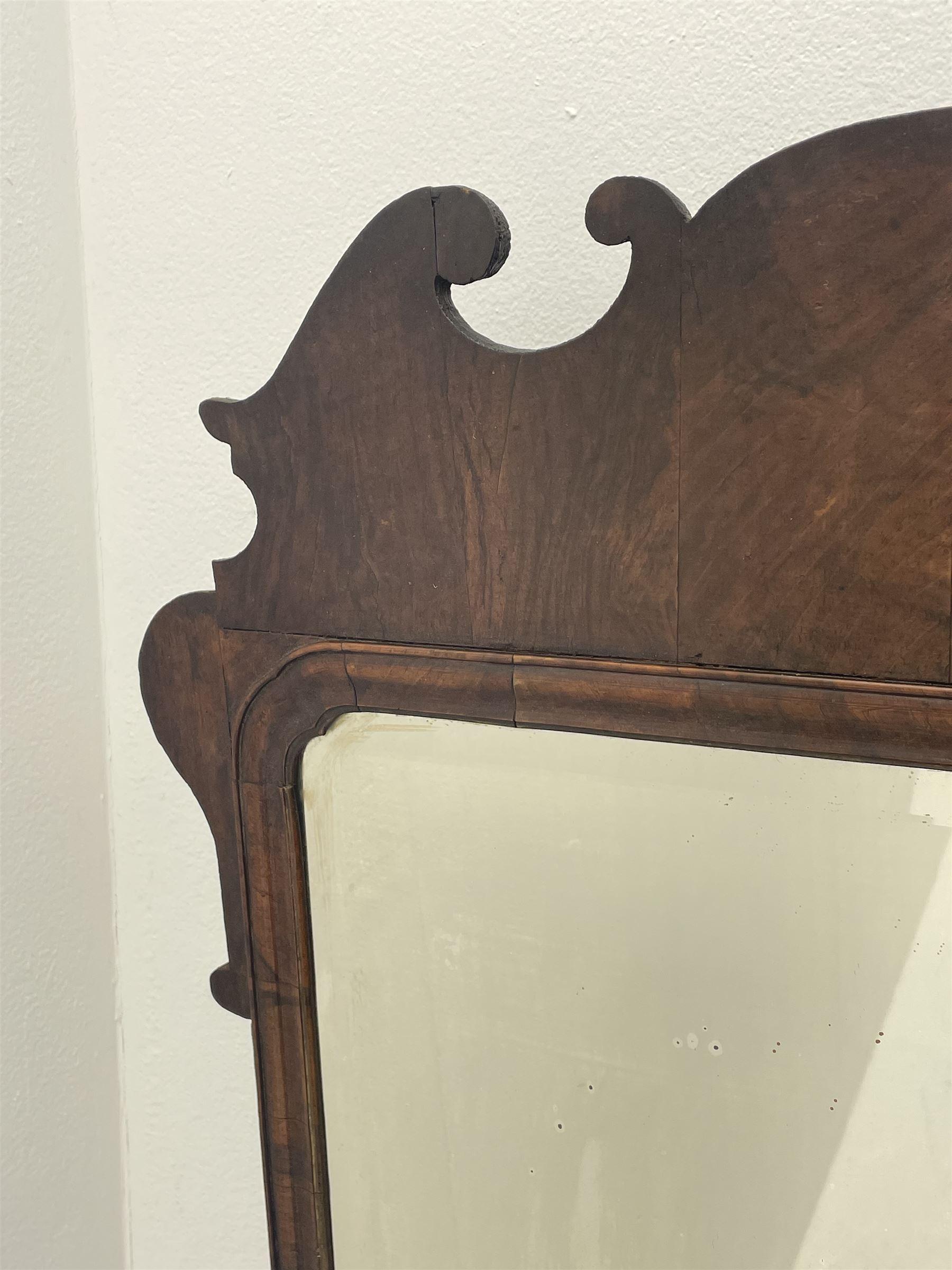 George II walnut mirror - Image 6 of 7