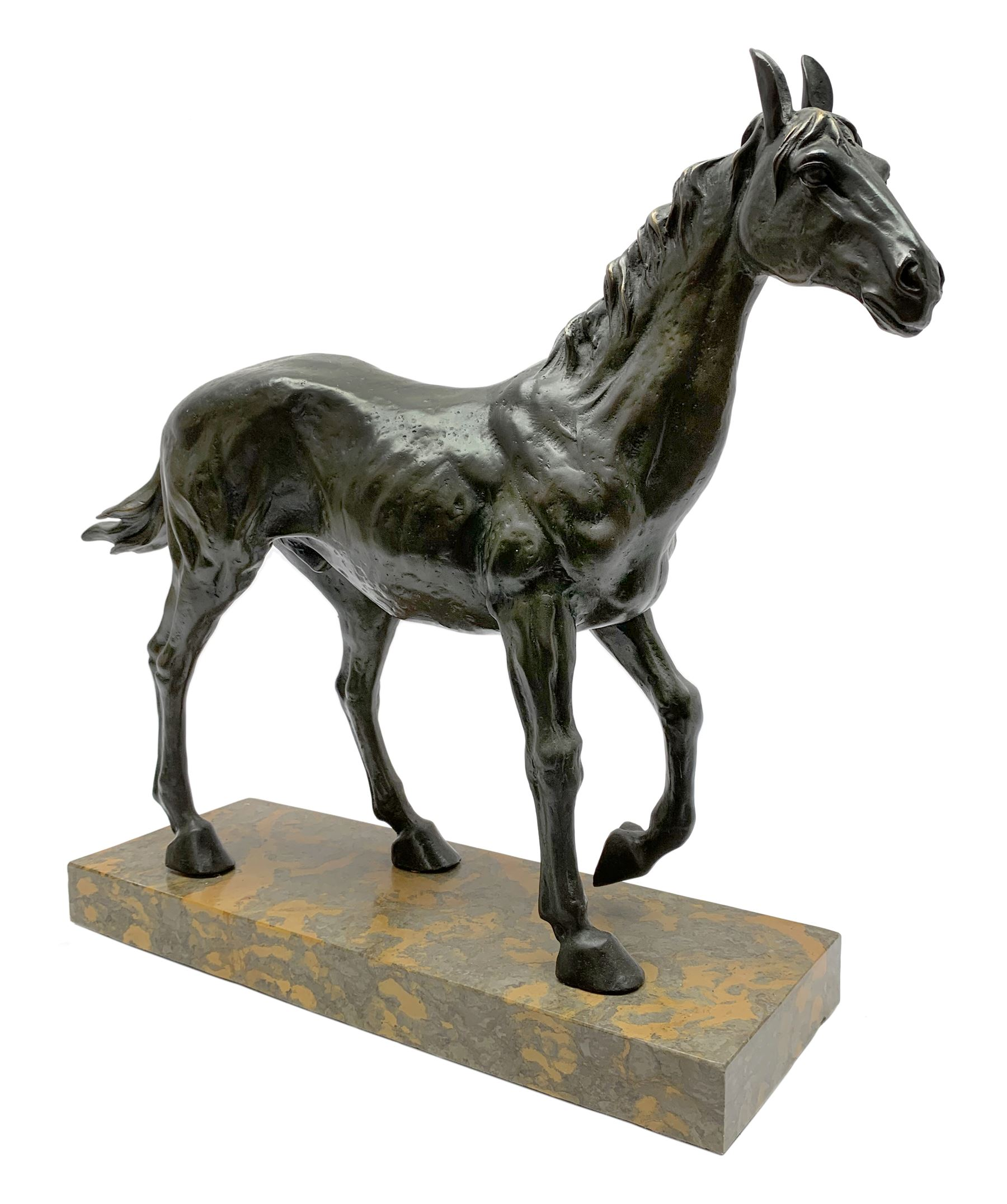 Large bronze study modelled as a horse