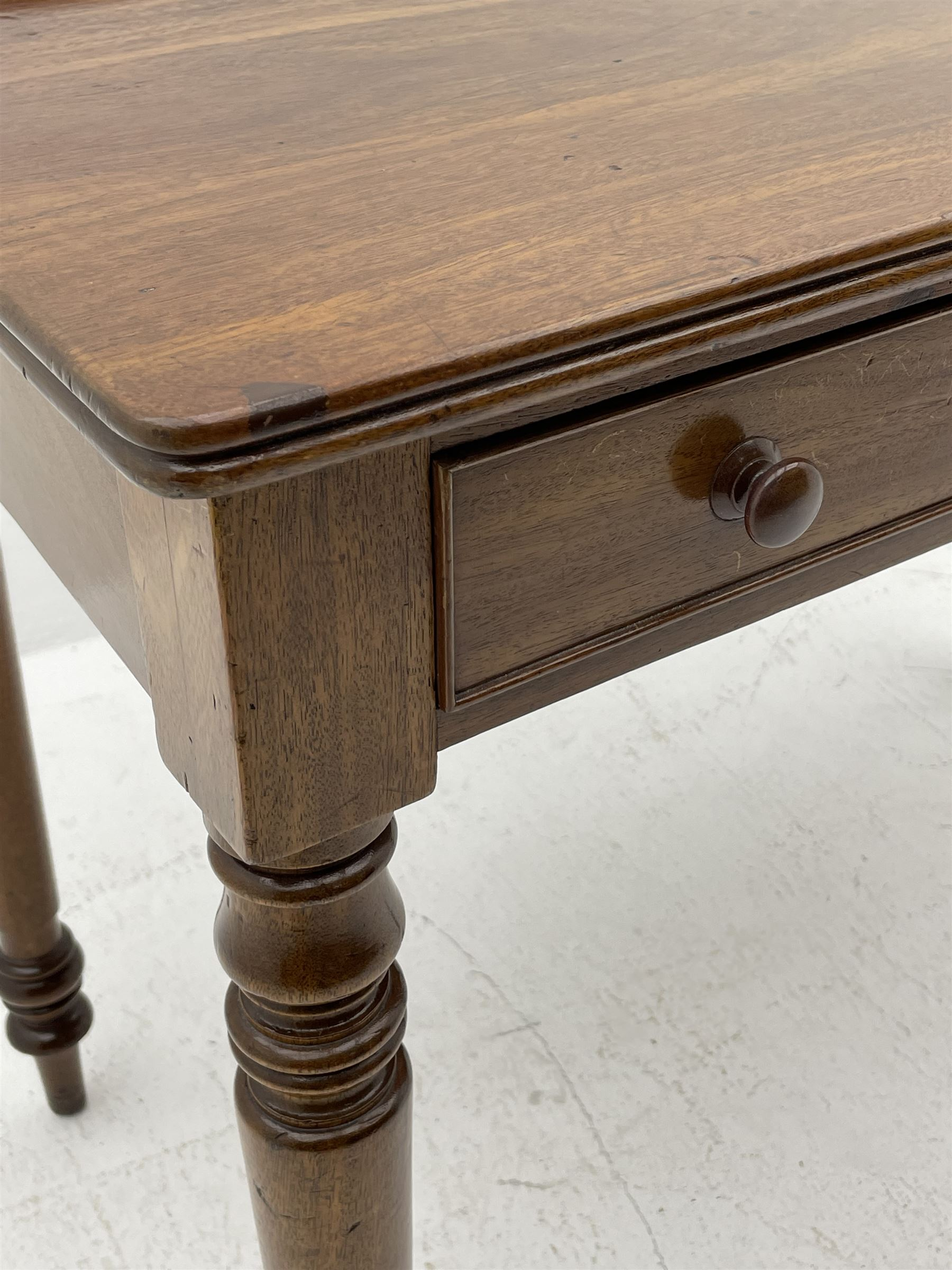 Victorian mahogany writing table - Image 3 of 4
