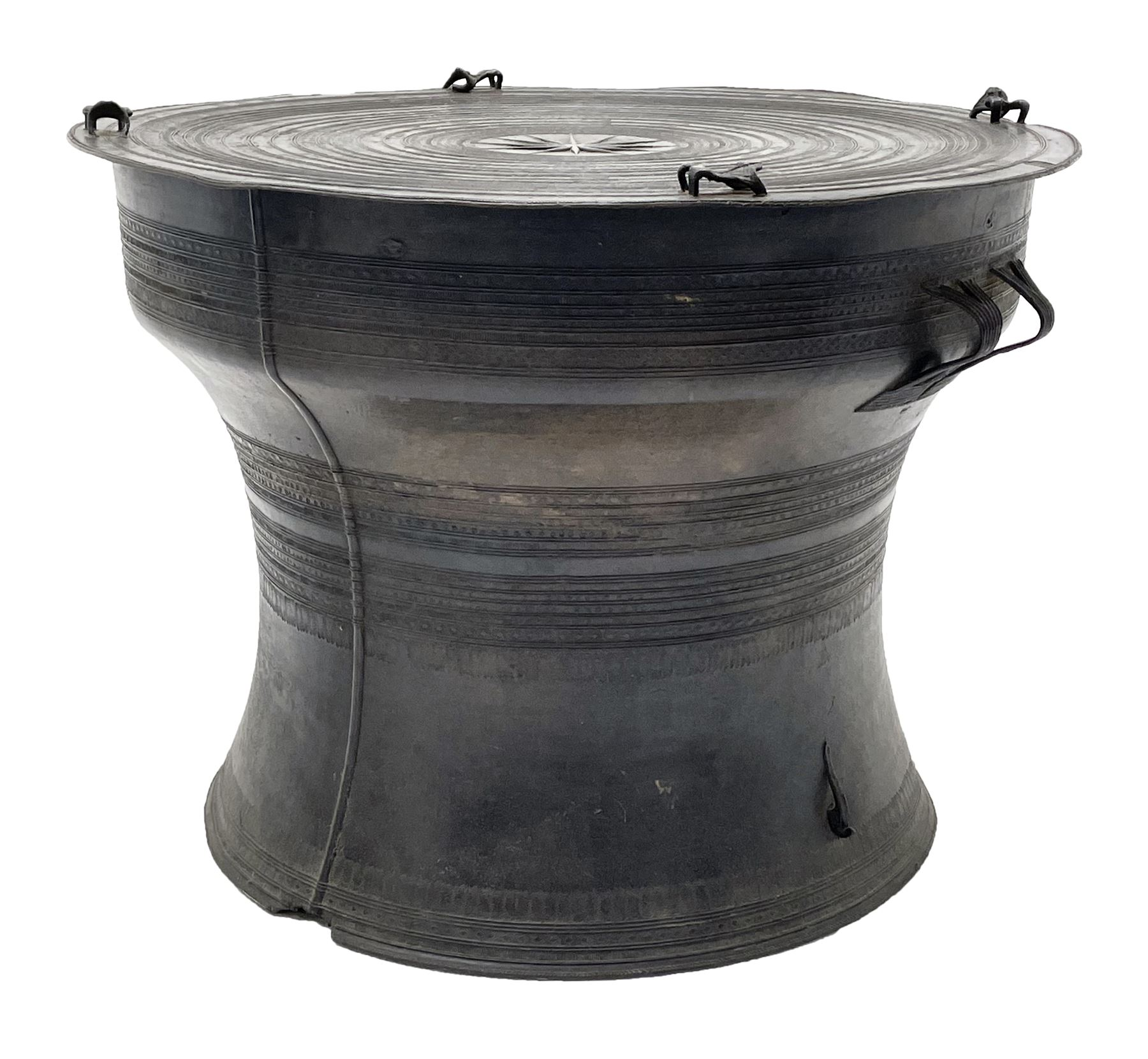 Dong Son style Southeast Asian bronze rain drum
