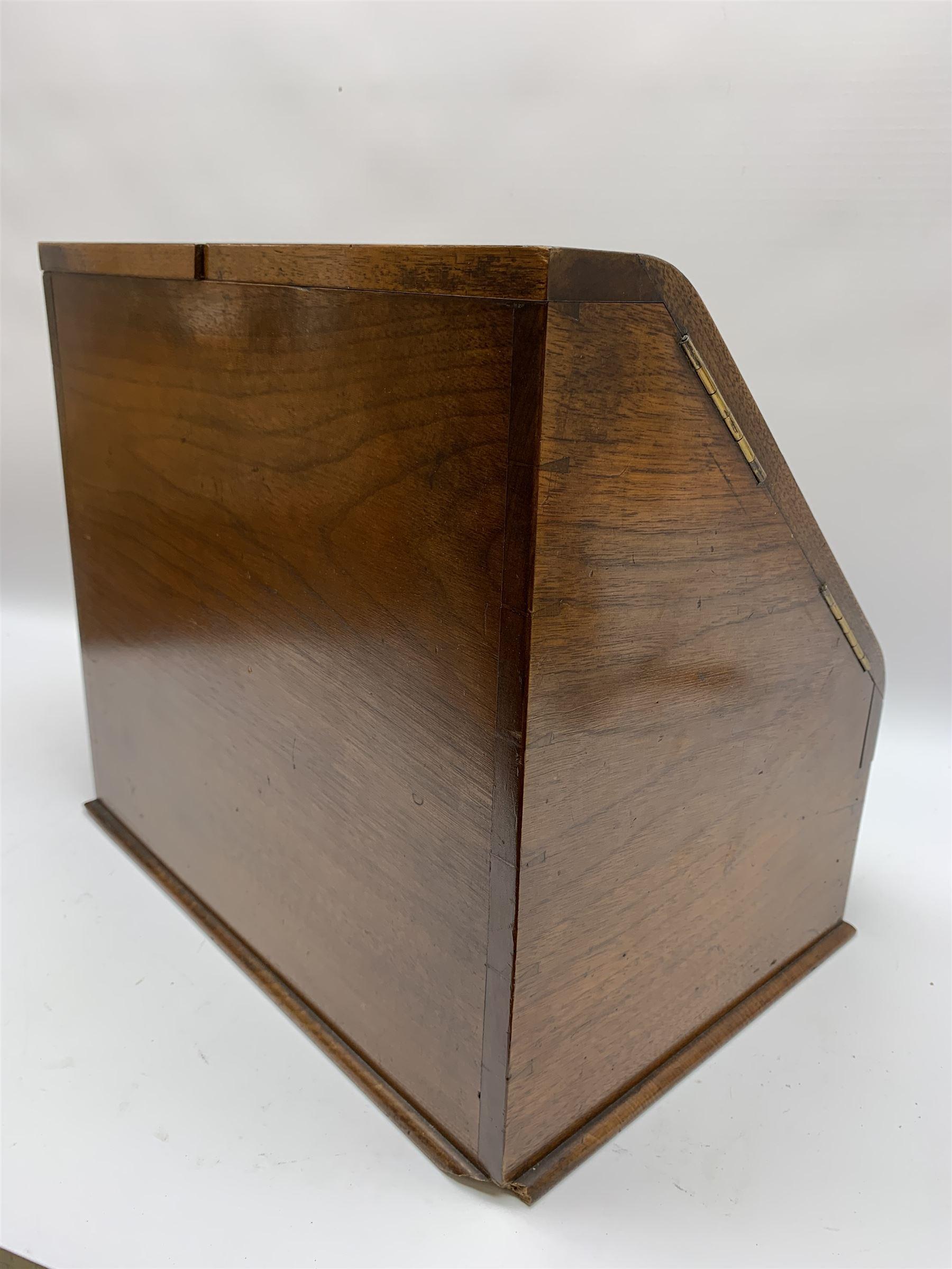 Late Victorian walnut correspondence box - Image 5 of 13