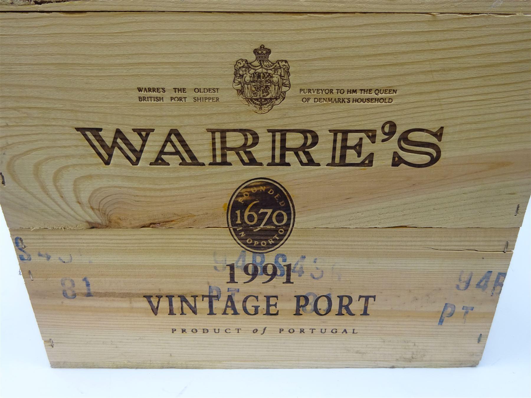 Warre's 1991 vintage port - Image 2 of 3