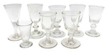Group of 18th and 19th century drinking glasses