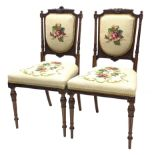 Pair of Victorian walnut salon chairs by James Winter and Sons 151-155 Wardour Street