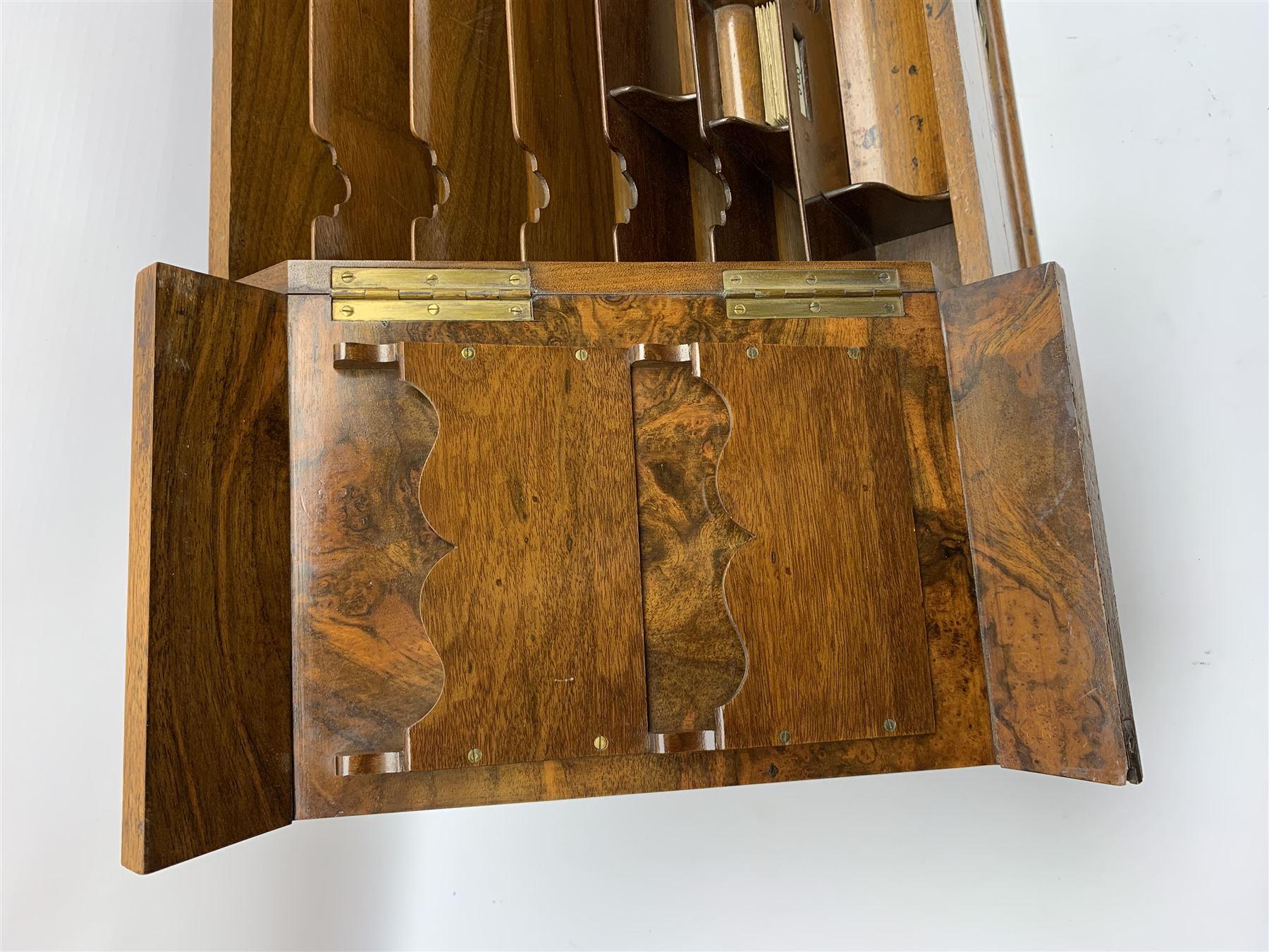 Late Victorian walnut correspondence box - Image 10 of 13