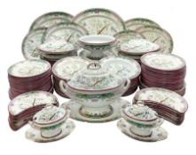 Extensive Victorian Powell and Bishop dinner service
