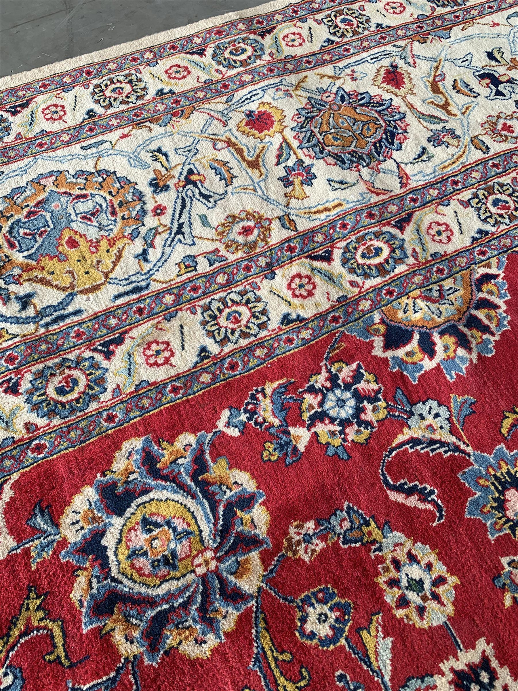 Large Fine Persian Kashan rug - Image 11 of 11
