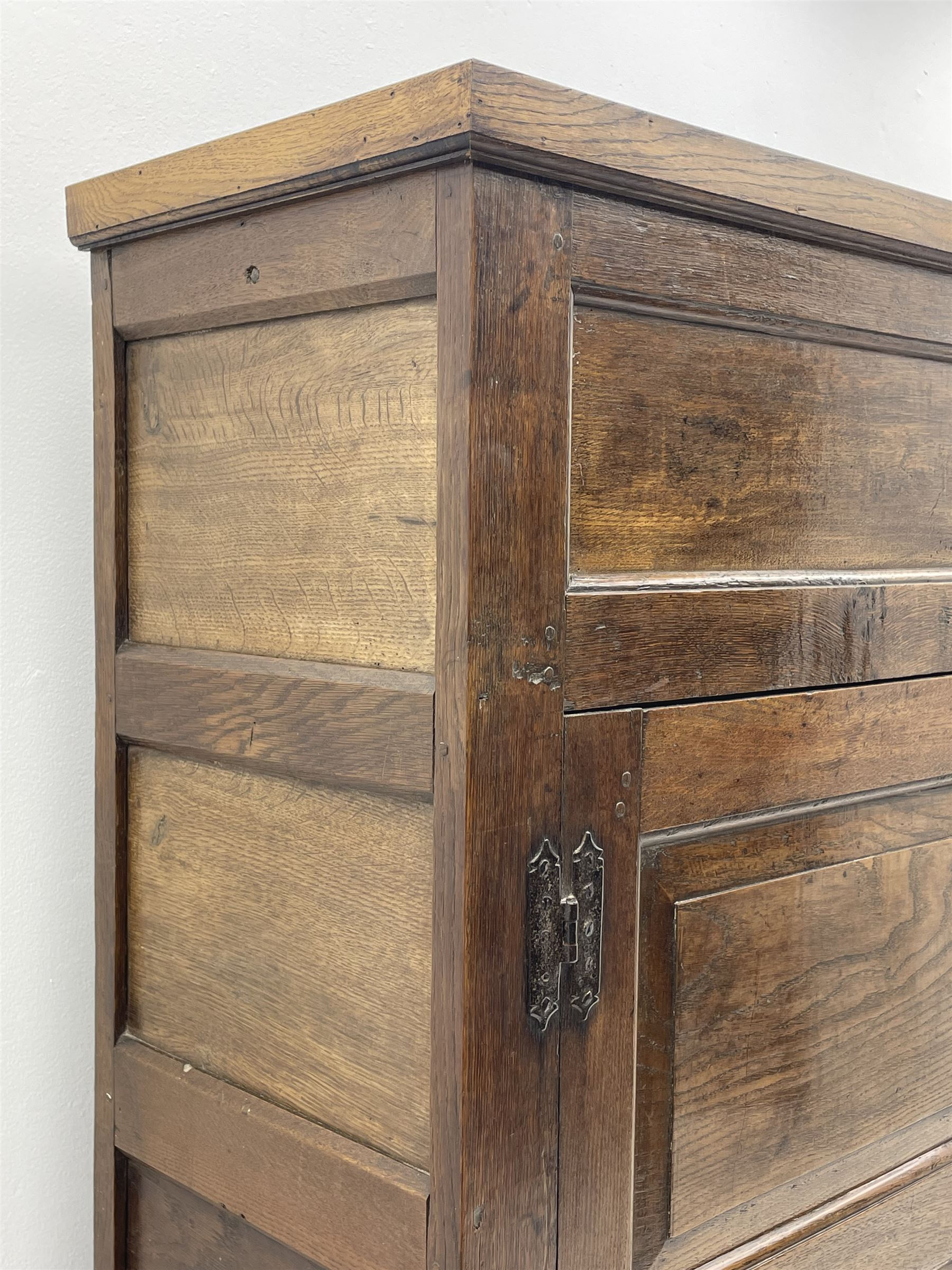 18th century and later oak livery cupboard - Image 7 of 8
