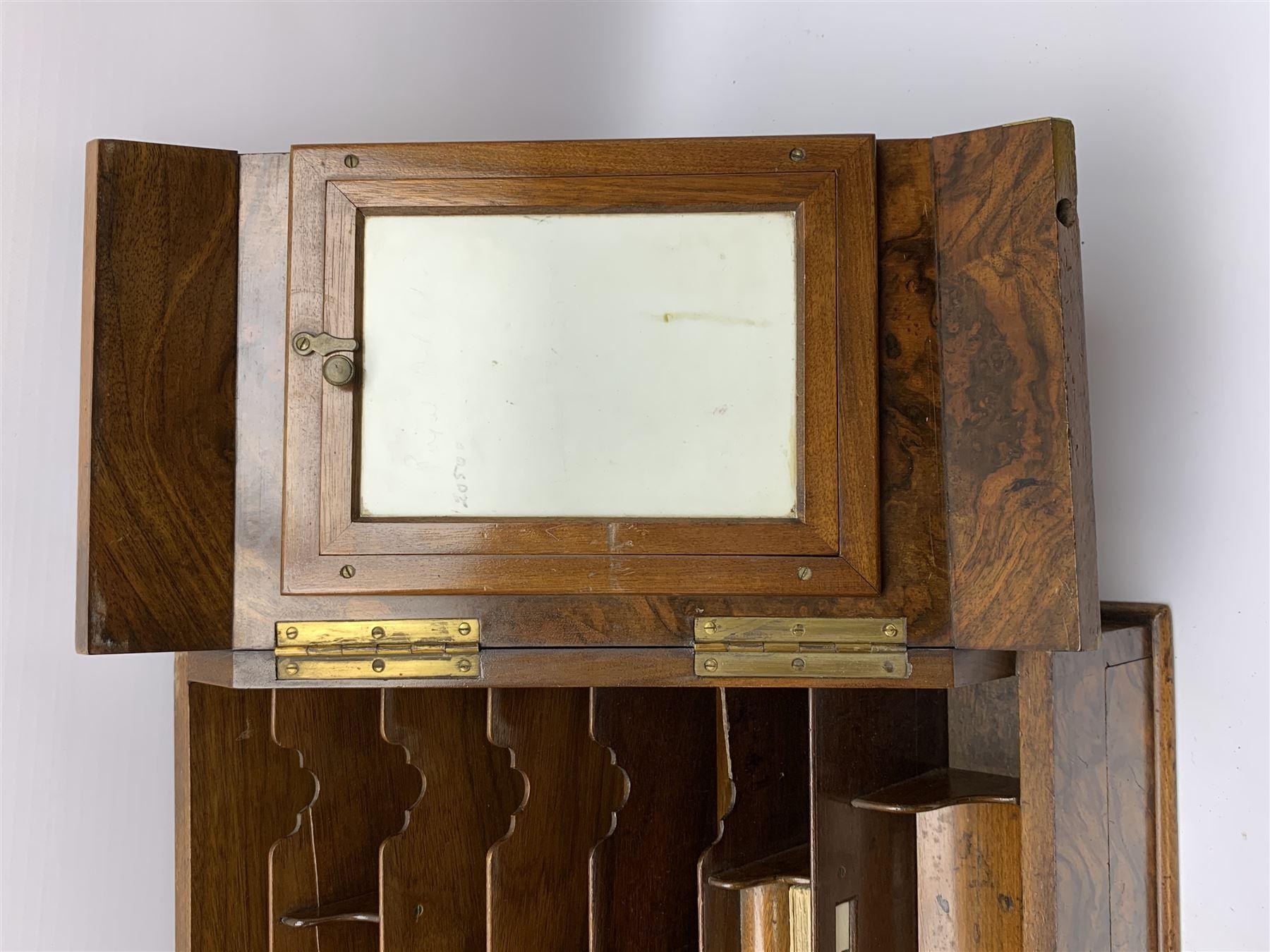 Late Victorian walnut correspondence box - Image 8 of 13