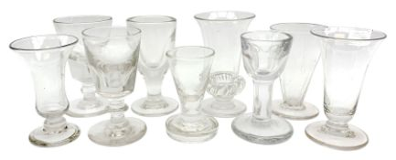 Group of 18th/19th century drinking glasses