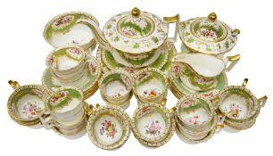 19th century English porcelain tea service