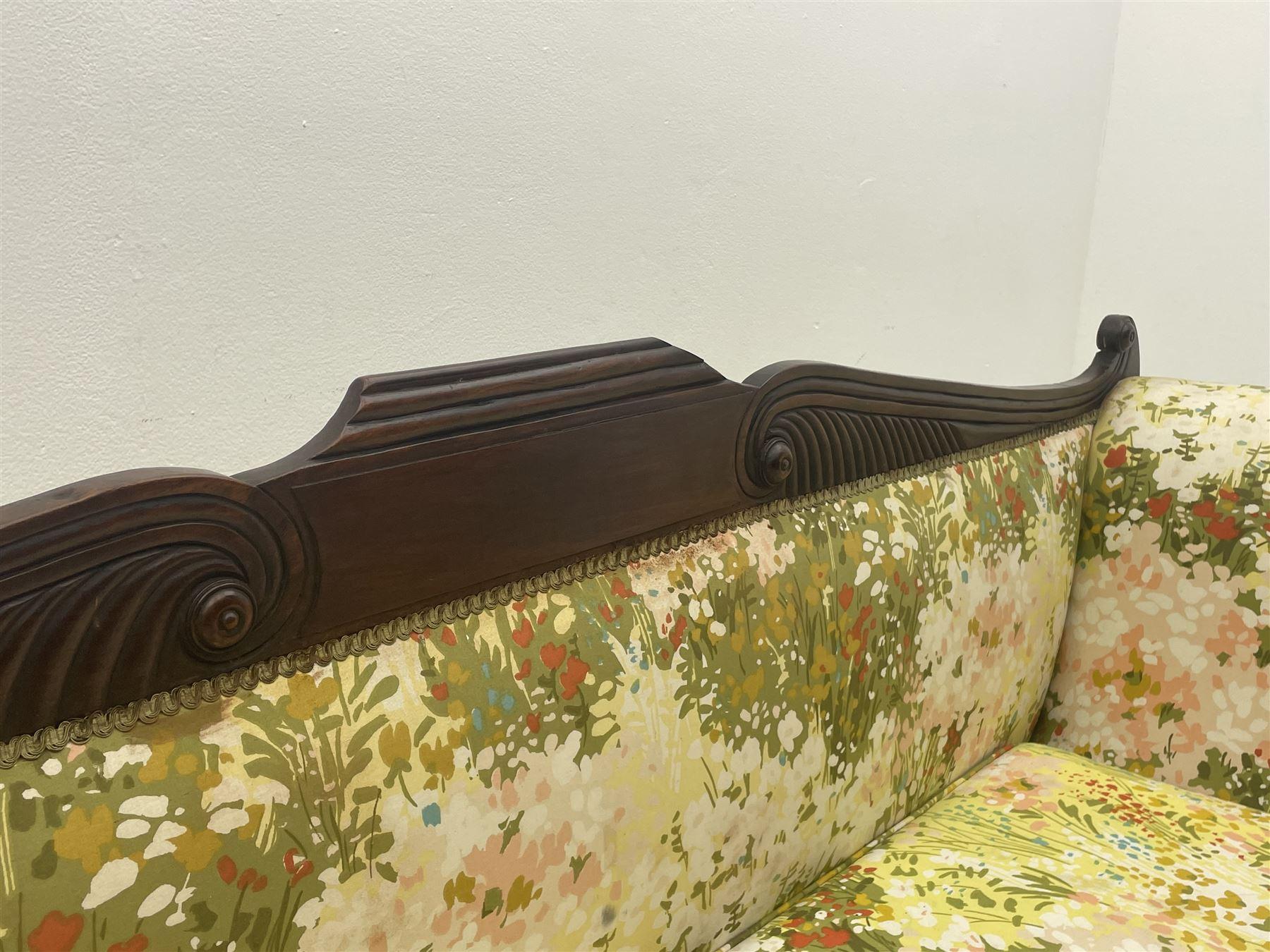 Regency period mahogany settee - Image 4 of 5