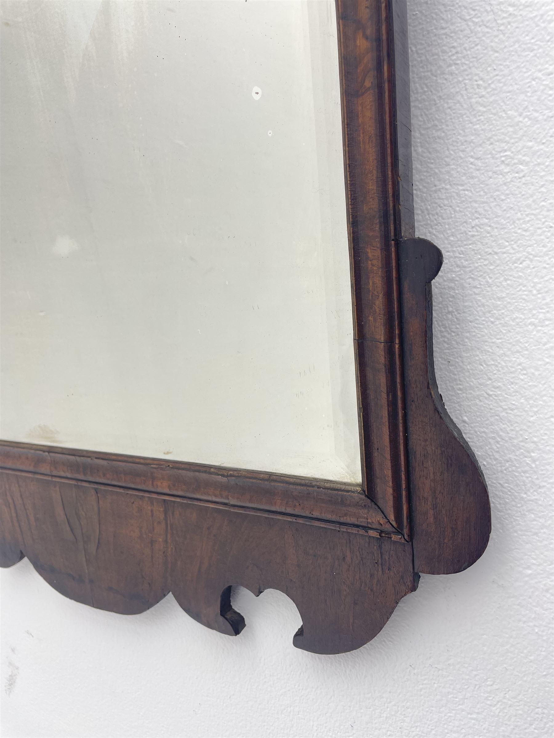 George II walnut mirror - Image 7 of 7