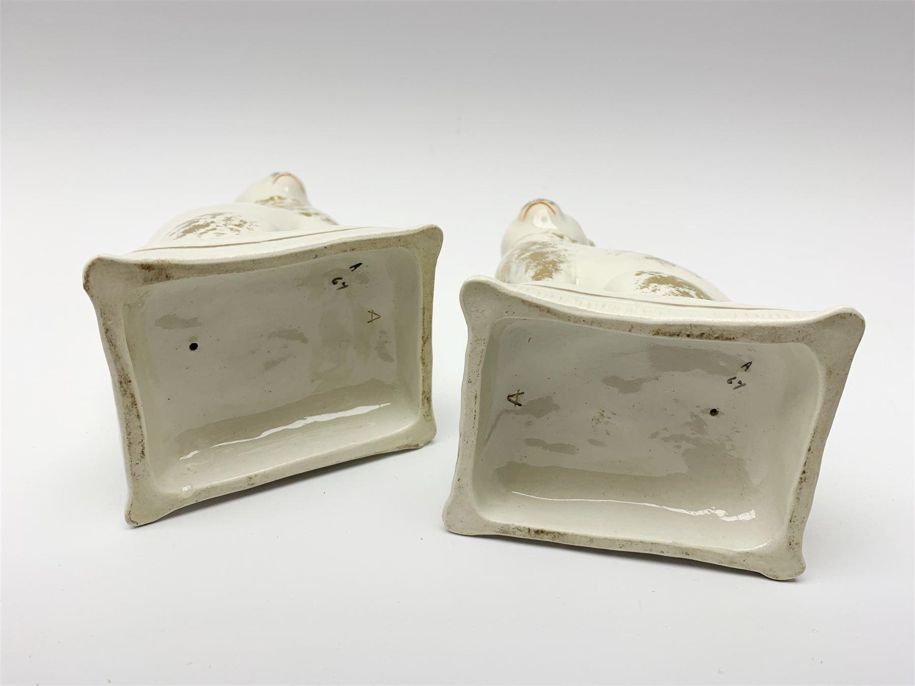 Pair of Victorian Staffordshire cats - Image 11 of 11