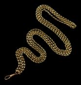 19th/early 20th century gold double strand chain with clip