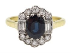 Gold oval sapphire