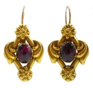 Pair of Victorian gold pendant earrings