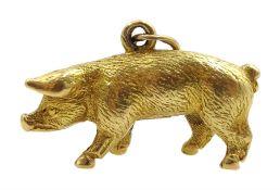 Gold pig pendant/charm