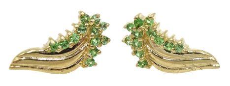 Pair of 9ct gold peridot stud earrings