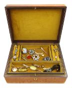 Collection of Victorian and later jewellery including carnelian seal fob with intaglio crest