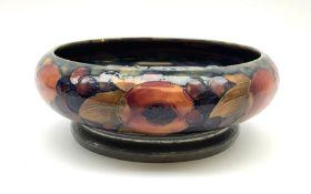 A William Moorcroft bowl on Tudric Pewter base