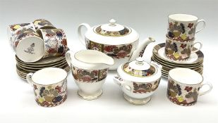 A Royal Worcester Lord Nelson pattern tea service for eight.