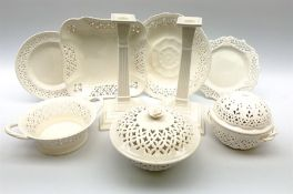 Collection of Harley Greens & co Leeds pottery creamware