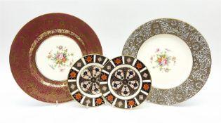 Two Royal Crown Derby Imari 1128 pattern plates