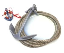 A Bing and Grondahl dish the rim modelled as a coiled rope with anchor 2377