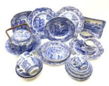 A collection of Spode Italian pattern wares