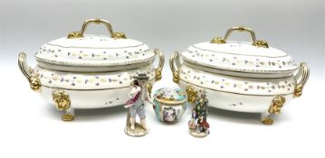 A pair of Bloor Derby tureens and covers