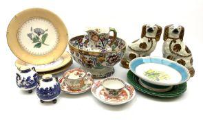 A group of 19th century ceramics