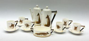 A Royal Doulton Reynard the Fox pattern coffee set