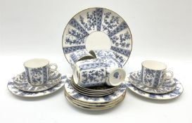 A late 19th century Royal Worcester tea set for six