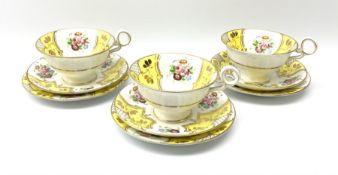 A set of three Fenton teacups