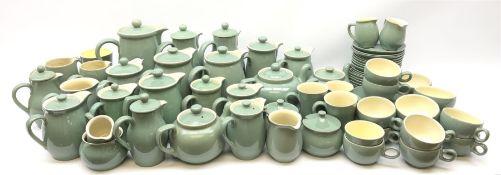 Denby Manor Green pattern tea service