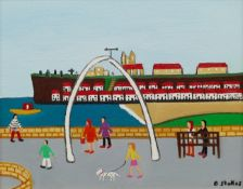Barry Stokes (Northern British Contemporary): Whale Bones Whitby