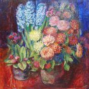 Martin Dutton (British 1939-): Still Life with Hyacinths