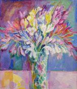 Martin Dutton (British 1939-): Still Life of Flowers