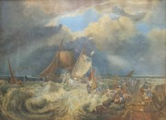 After JMW Turner (British 1775-1851): 'Calais Pier with French Poissards Preparing for Sea