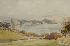 Edward H Simpson (British 1901-1989): Scarborough from Holbeck Gardens