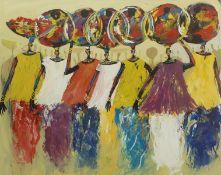 Kofi Nduro (Ghanaian 1964-): Gourd Sellers