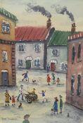 Pete Dimmock (Northern British Contemporary): 'Street Dog Cart Kids Cat'