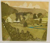 John Brunsdon (British 1933-2014): 'Ryedale Farmhouse'