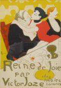 After Henri de Toulouse-Lautrec (French 1864-1901): 'Reine de Joie par Victor Joze'