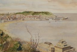 C Bibbs (British 20th century): Scarborough South Bay from the Spa