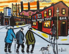 Phil Lewis (Northern British Contemporary): 'Old Codgers' Night Out at the Three Tuns Pub'