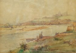 Frank Rousse (British fl.1897-1917): Whitby from Divinity Flat
